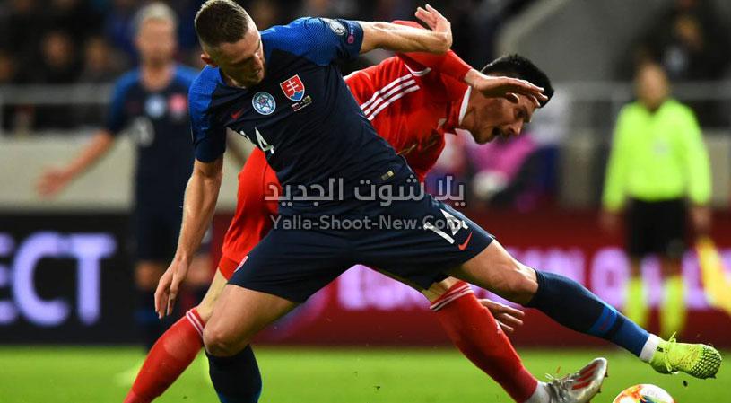 التعادل الاجابي ينهي مباراة ويلز وسلوفاكيا في التصفيات المؤهلة ليورو 2020
