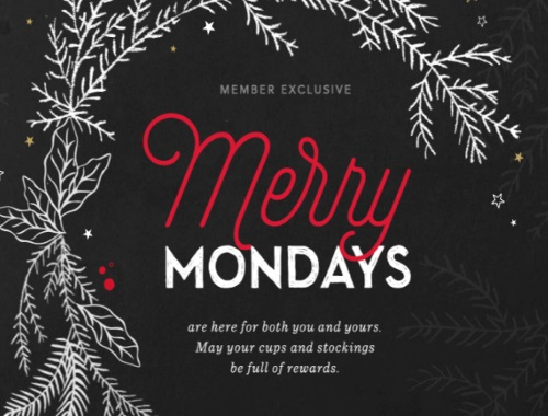 Starbucks Merry Mondays