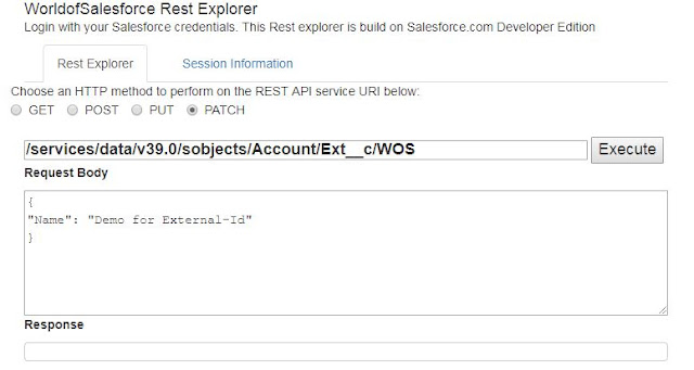 Update Records using External ID - Salesforce Rest API