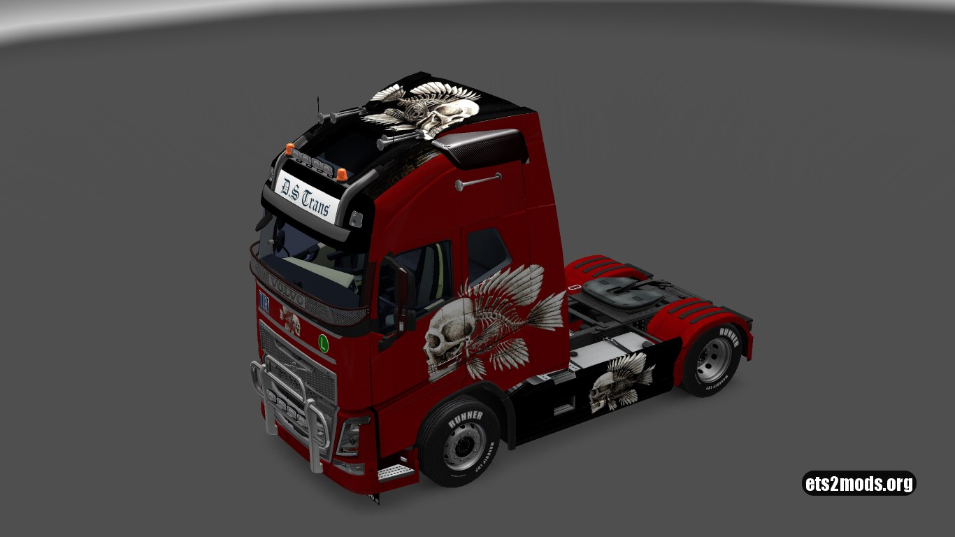 Volvo 2012 & 2013 Metallic 3D Skeleton Skin