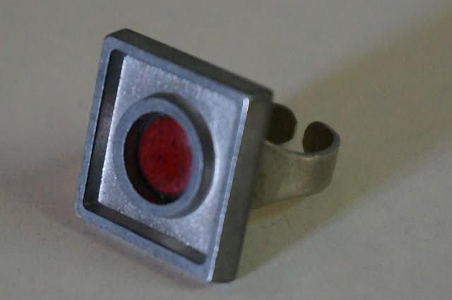 vintage ring modernist 70s 1970s
