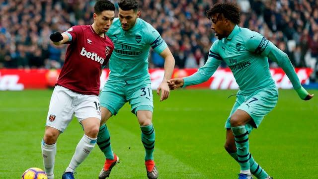 Nasri, Kolasinac and Alex Iwobi West Ham United Vs Arsenal