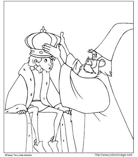 LAMINAS PARA COLOREAR - COLORING PAGES: Merlin y El Rey ...