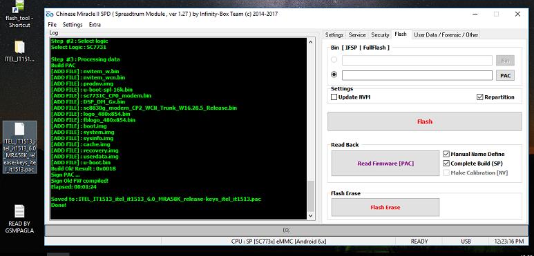 Itel it1513 Pac Firmware SPD7731 6.0 Stock Rom gsmpagla