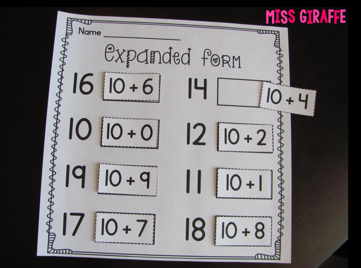 Miss Giraffe's Class: Place Value in First Grade [ 939 x 1264 Pixel ]