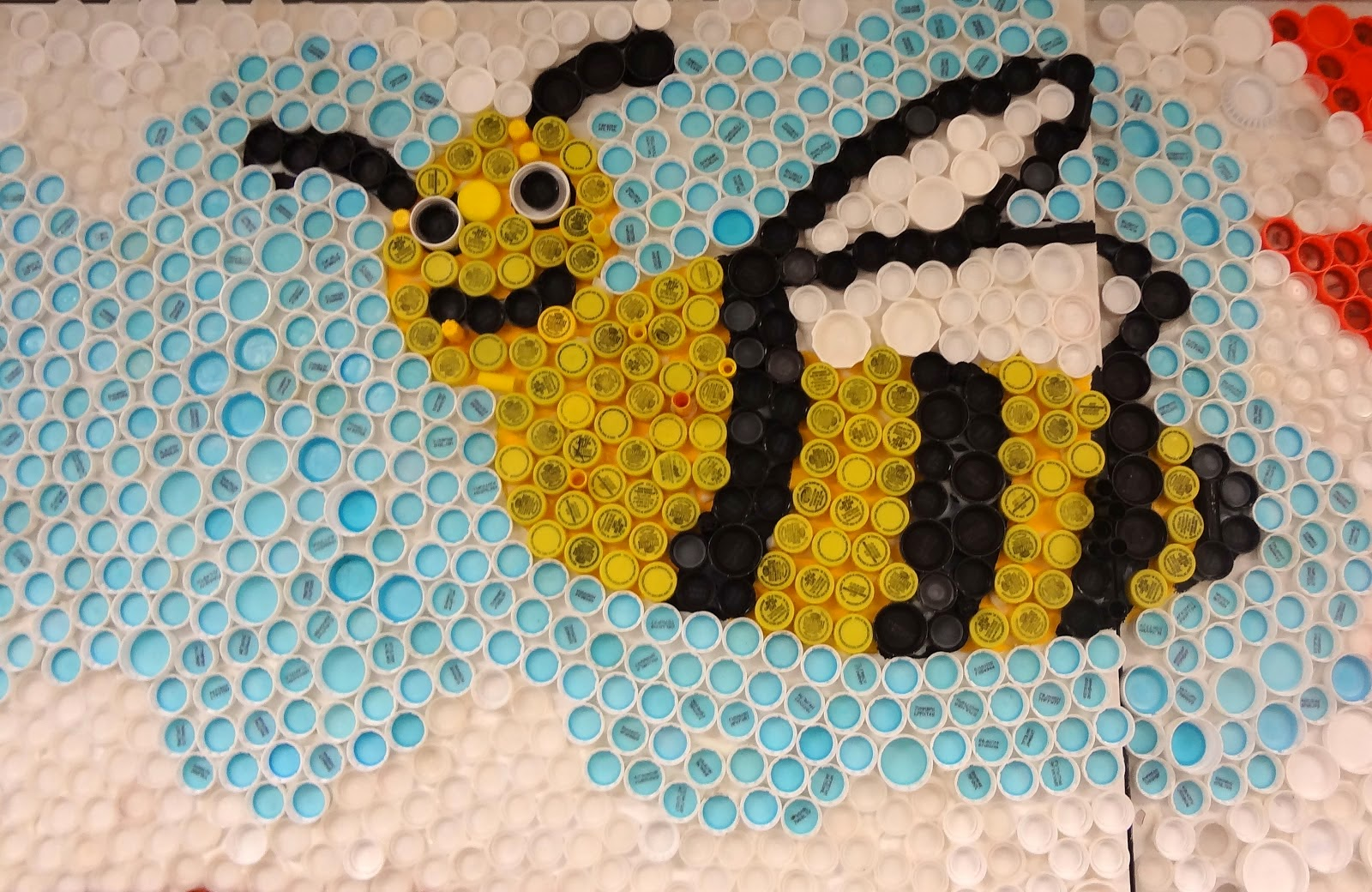 Craft for kids recycle bottle cap creative art and for Bottle arts and crafts