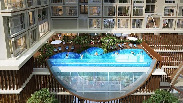 bể bơi vô cực chung cư Hinode Minh Khai