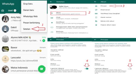 laporan dibaca whatsapp
