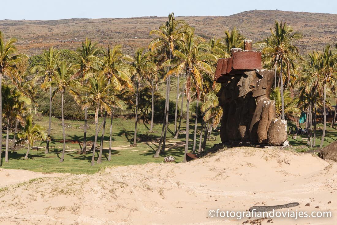 Ahu Nau Nau Anakena isla de pascua rapa nui