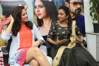 Actress Suma in Black Salwar Suit and Anusuya in orange Dress at winner movie press meet part 2 February 2017 (33).JPG