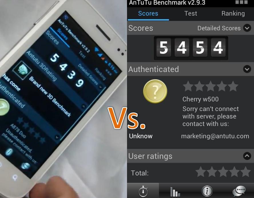 phone benchmark comparison
