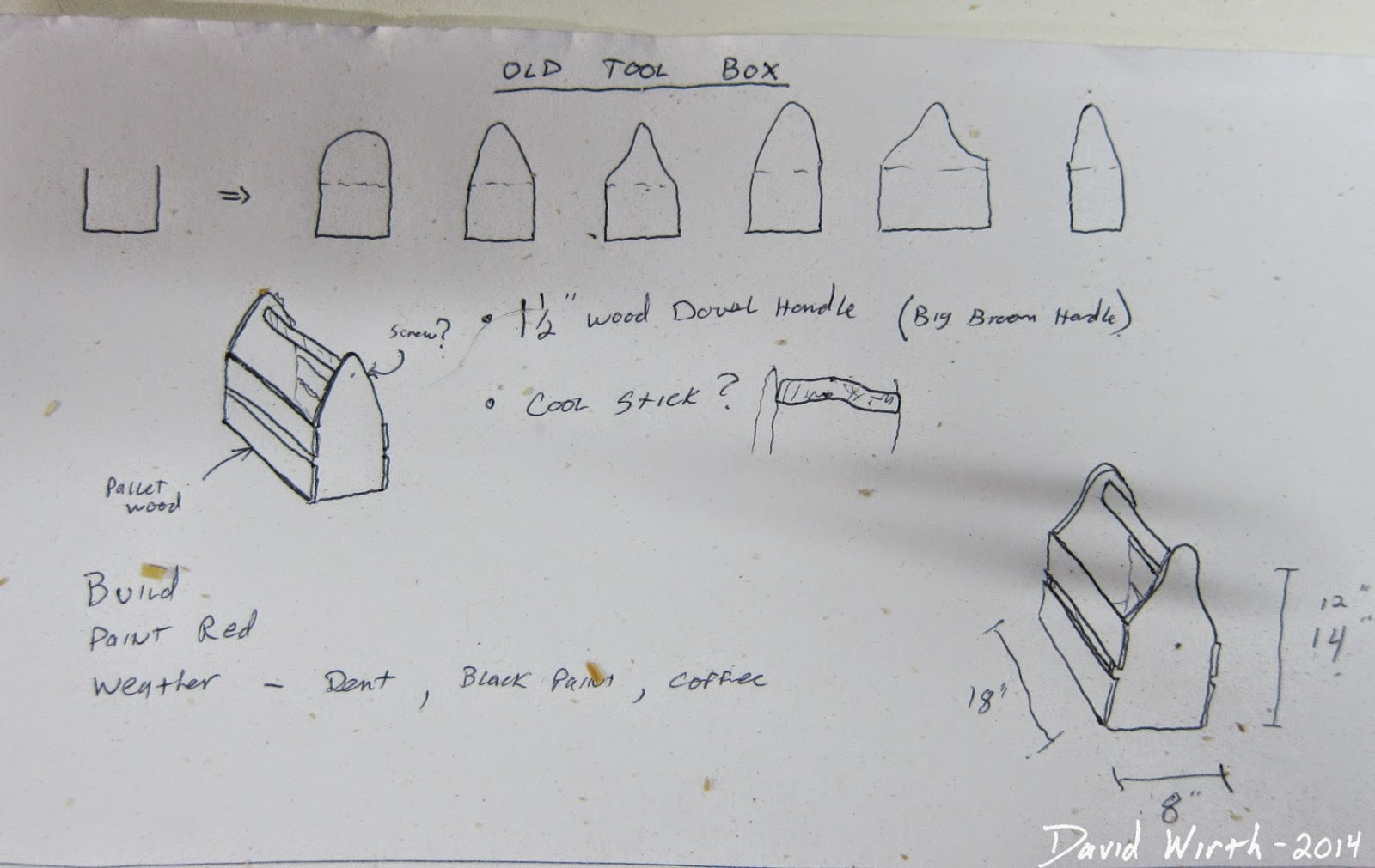 sketch, tool box, ideas, simple, plan, pattern
