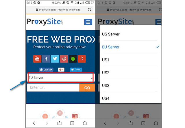 membuka situs diblokir di Hp Android 1