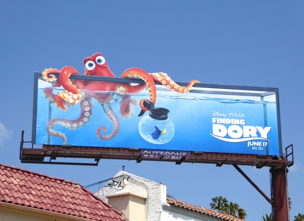Finding Dory Hank the Octopus billboard