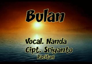Lirik Lagu Bulan - Sriyanto