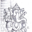 Lord Vinayaka - Quick Sketch | Sathish's Gallery - Pencil Sketches, Techniques and more