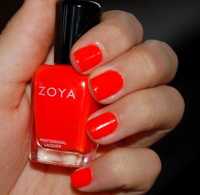 Lace N Leopard Neon Orange Nails