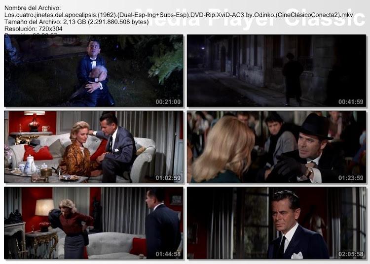 Capturas de pantalla: Los cuatro jinetes del Apocalipsis de 1962