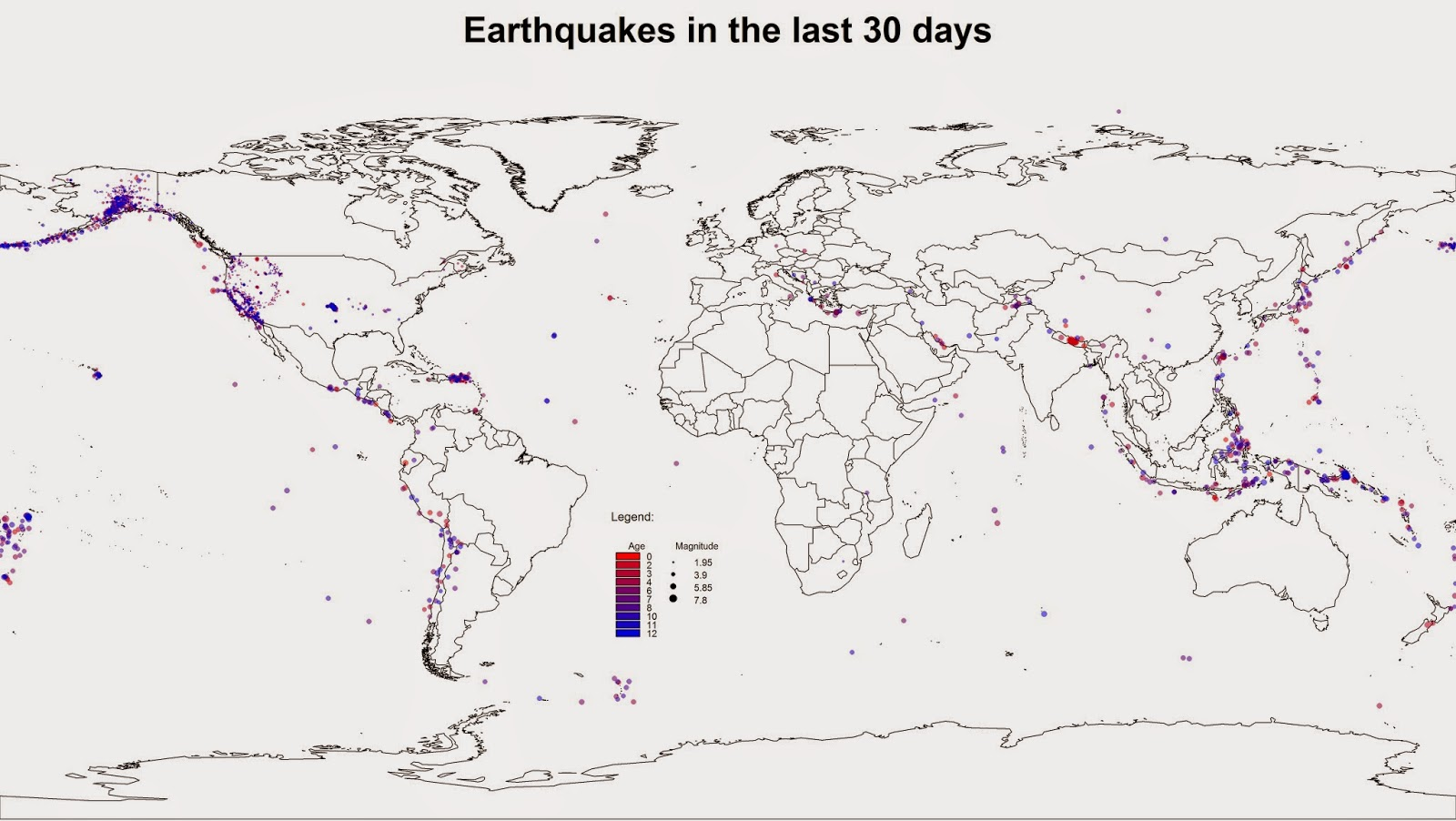 Downloading and Visualizing Seismic Events from USGS