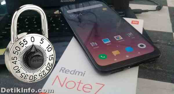 membuka Redmi Note 7 terkunci