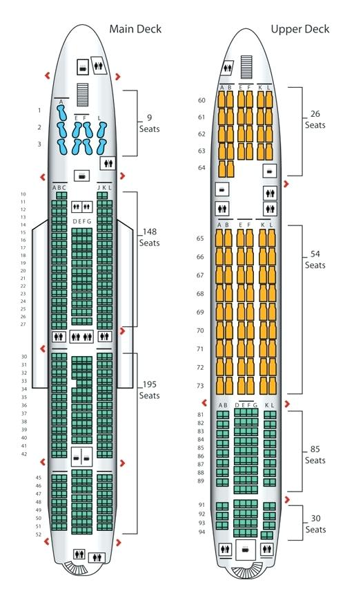 Emirates a380 Business Class Seat Map - Seat Inspiration