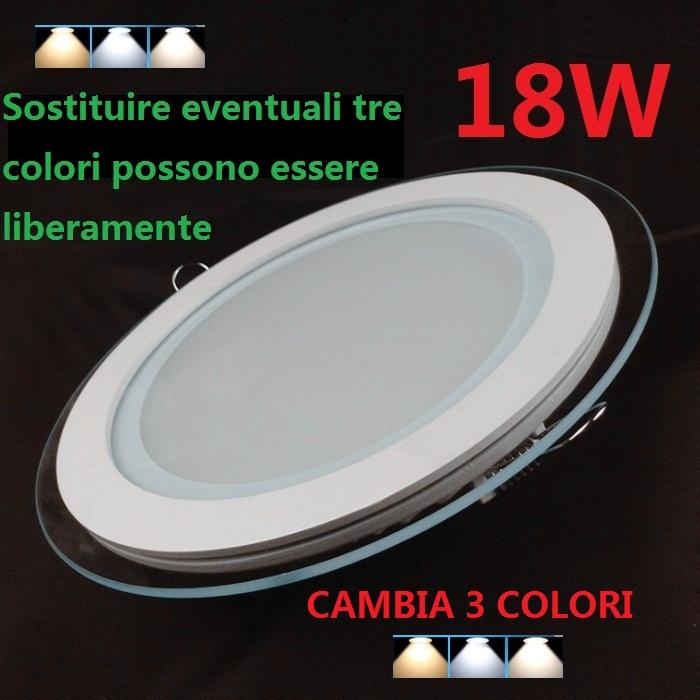 Faretto Led 18w Colore 1 Pannello Luce In 3 Lampada 4000k Cambio lKF1cJ