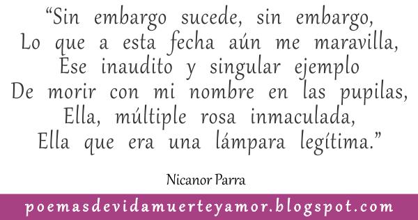 Es olvido - Poema de amor de Nicanor Parra