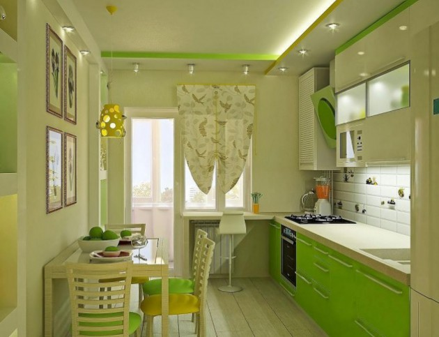 50 Desain Dapur Minimalis Cantik Berwarna Hijau Bergaya Modern