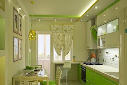 45 Desain Dapur Minimalis Cantik Berwarna Hijau Bergaya Modern