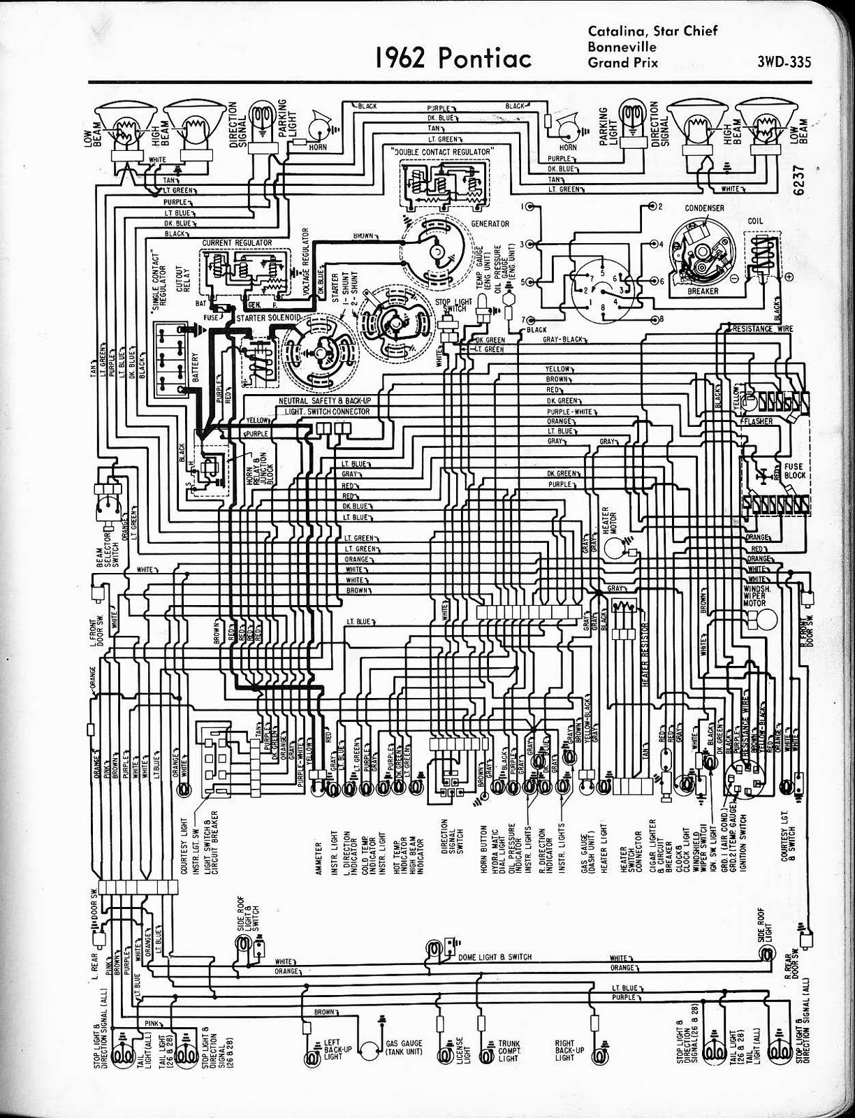 free auto wiring diagram 1962 pontiac catalina  star chief  bonneville  grand prix wiring 1962 ford galaxie fuse box 2013 Ford Explorer Fuse Diagram