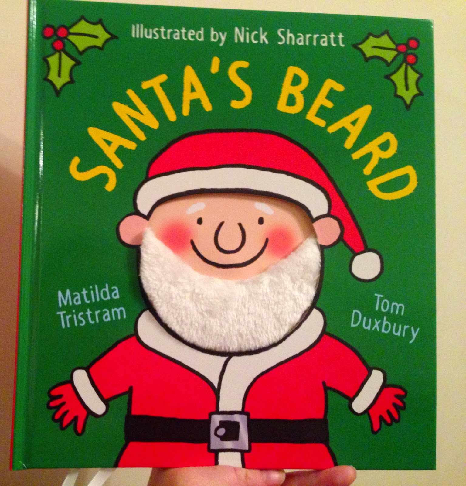 Our Christmas Book Advent tree | Ideas for the Best Children's Books to Buy this Christmas - Santas beard