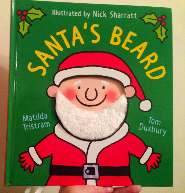 Our Christmas Book Advent tree   Ideas for the Best Children's Books to Buy this Christmas - Santas beard