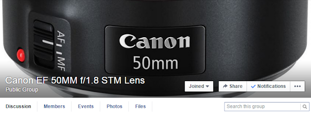 Join the Canon EF 50mm f/1.8 STM Lens Facebook Group