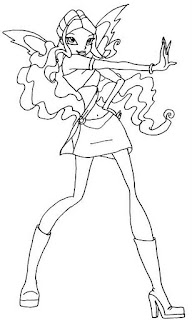 Winx Club Kleurplaten Roxy.Winx Club Kleurplaten Roxy Winx Club Nebula Coloring Page Free