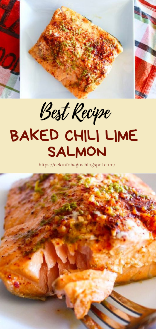 BAKED CHILI LIME SALMON #dinnerrecipe #food