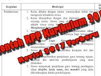 13 Komponen RPP Terbaru Beserta Contoh RPP SD Kurikulum 2013 Revisi 2017 Bisa Download
