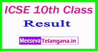 ICSE 10th Class Result 2017