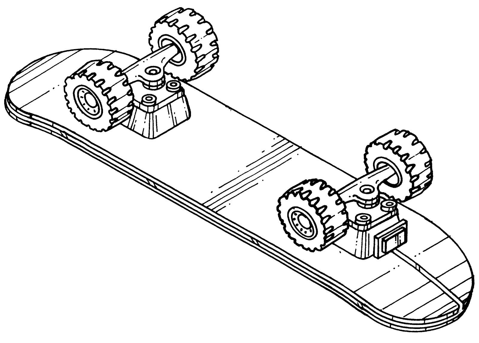 Desenho De Skate Para Imprimir