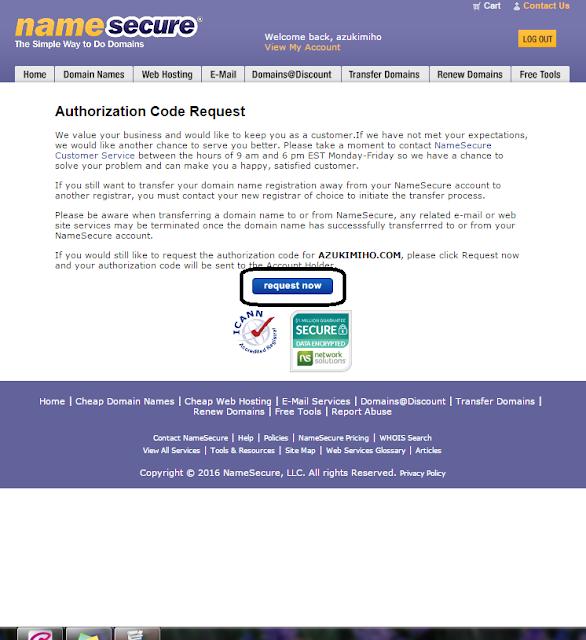 Cara Mendapatkan EPP Code Domain NameSecure, epp code namesecure, epp code, mendapatkan epp code, cara menadpatkan epp code, authorization code namesecure