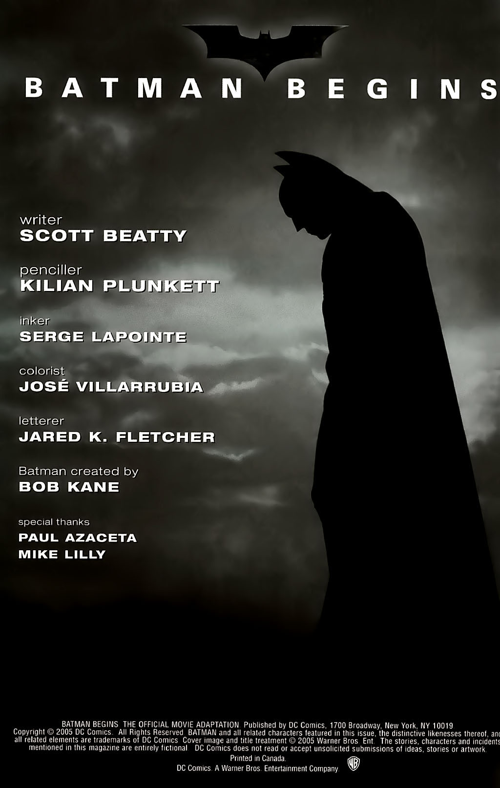 Batman Begins: The Official Movie Adaptation Full Page 2