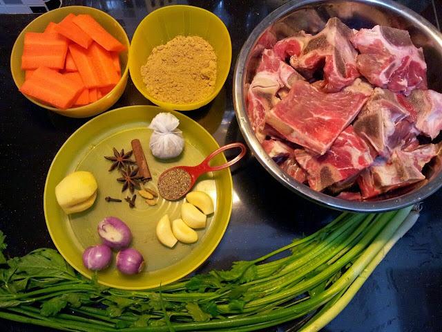 Bahan-Bahan Sup Daging