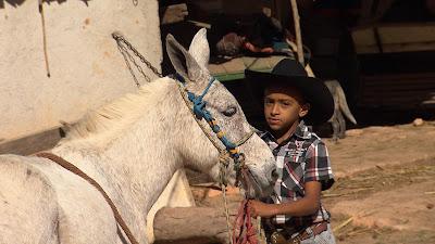 Matheus rifará seu burrinho para poder competir em provas com cavalos (Divulgação/SBT)