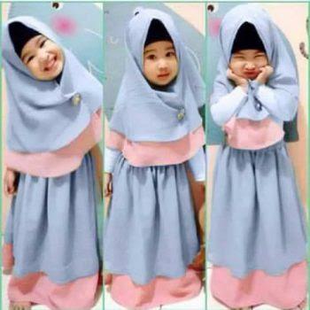 Model Baju Bayi Perempuan kerudung