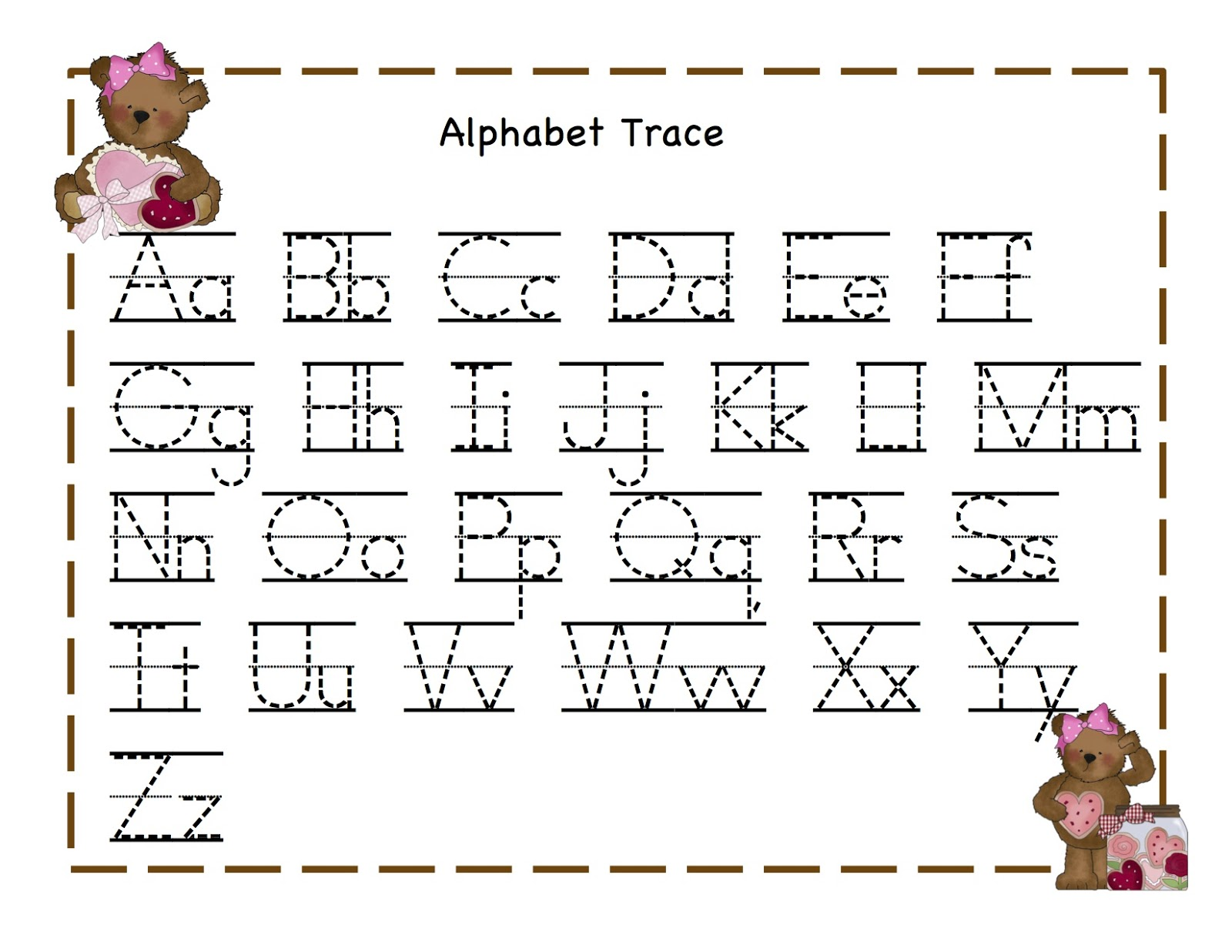 Free Worksheet Free Traceable Alphabet Worksheets alphabet tracing templates letter 7 worksheets free printable letters on abc coloring templates