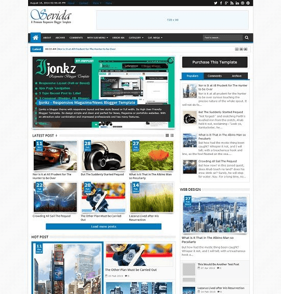We know you lot are looking for best blogger template Top 12 Responsive SEO Friendly Blogger Templates Free Download
