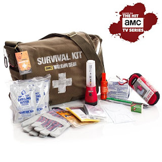 Image: Official Survival Kit of AMC's The Walking Dead TV show | large military style messenger bag | Perfect survival kit for one person and great for college students