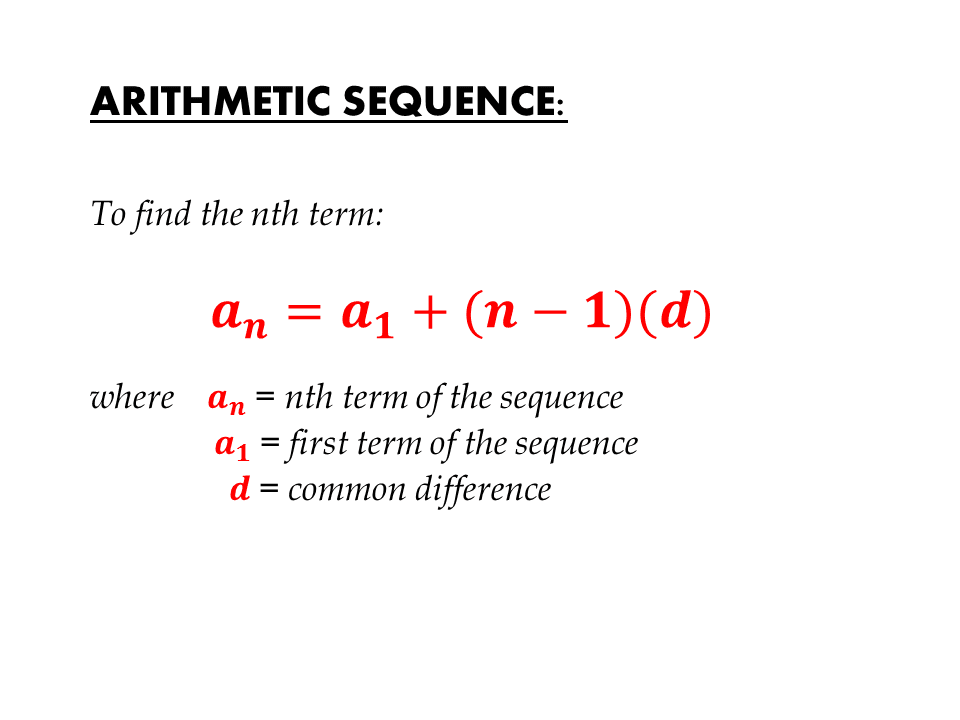 write an expression for the nth term of the sequence funk