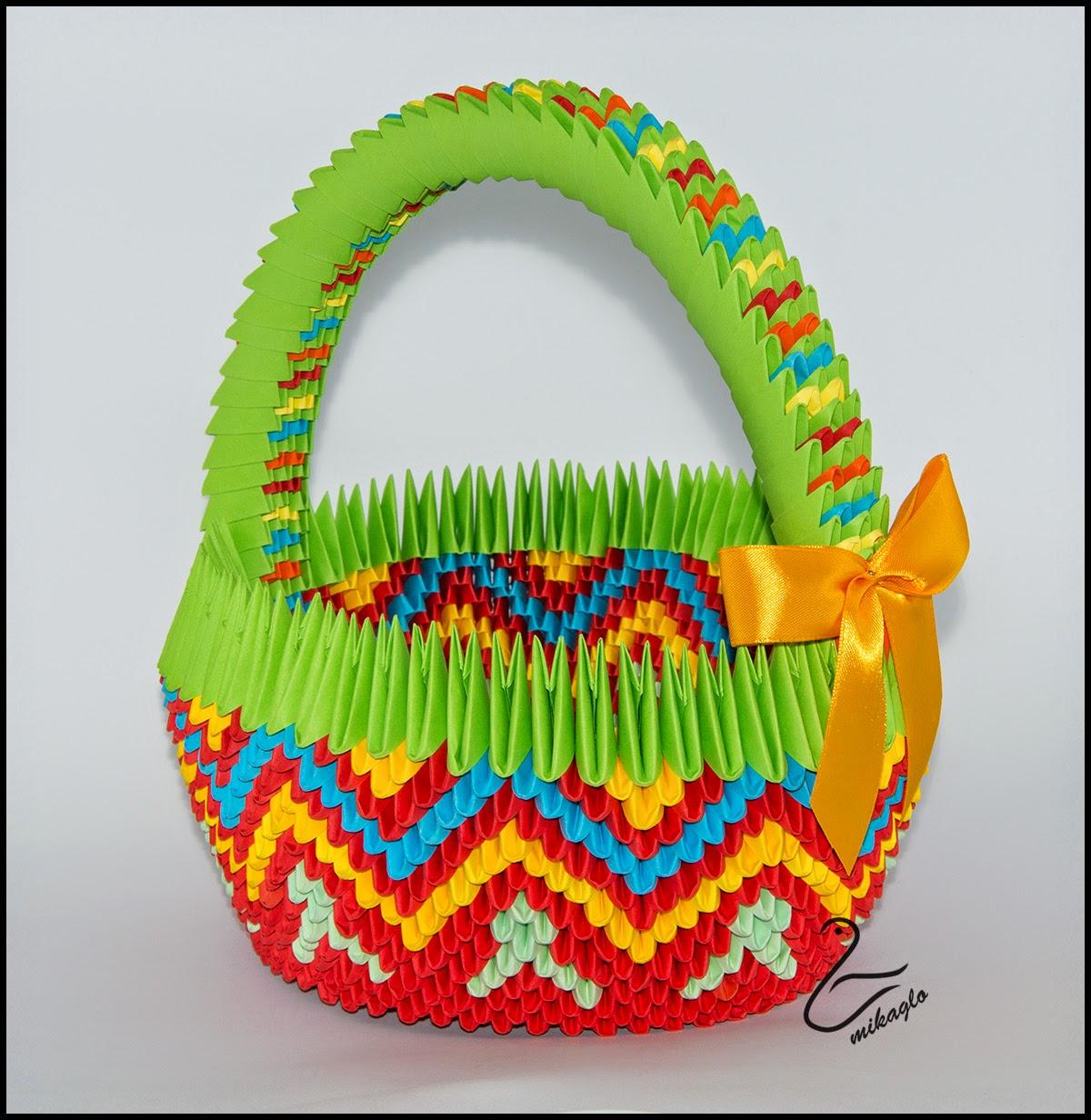 ... : 49. Wielkanocne koszyczki z origami / Origami 3d baskets for Easter