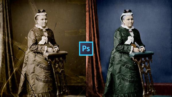 Curso de restauración de fotografías con Adobe Photoshop