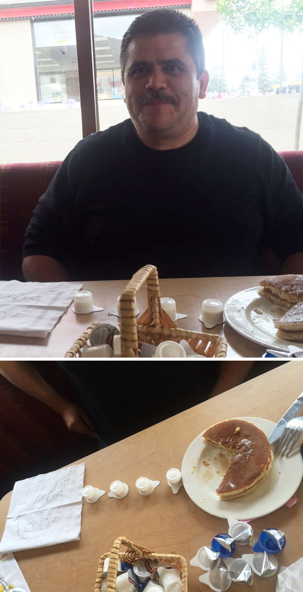 40 Photos Of The Most Hilarious Parents You Will Ever Meet - My Dad Was Looking At Me Like This For Like 5 Minutes Until I Looked Down At His Plate